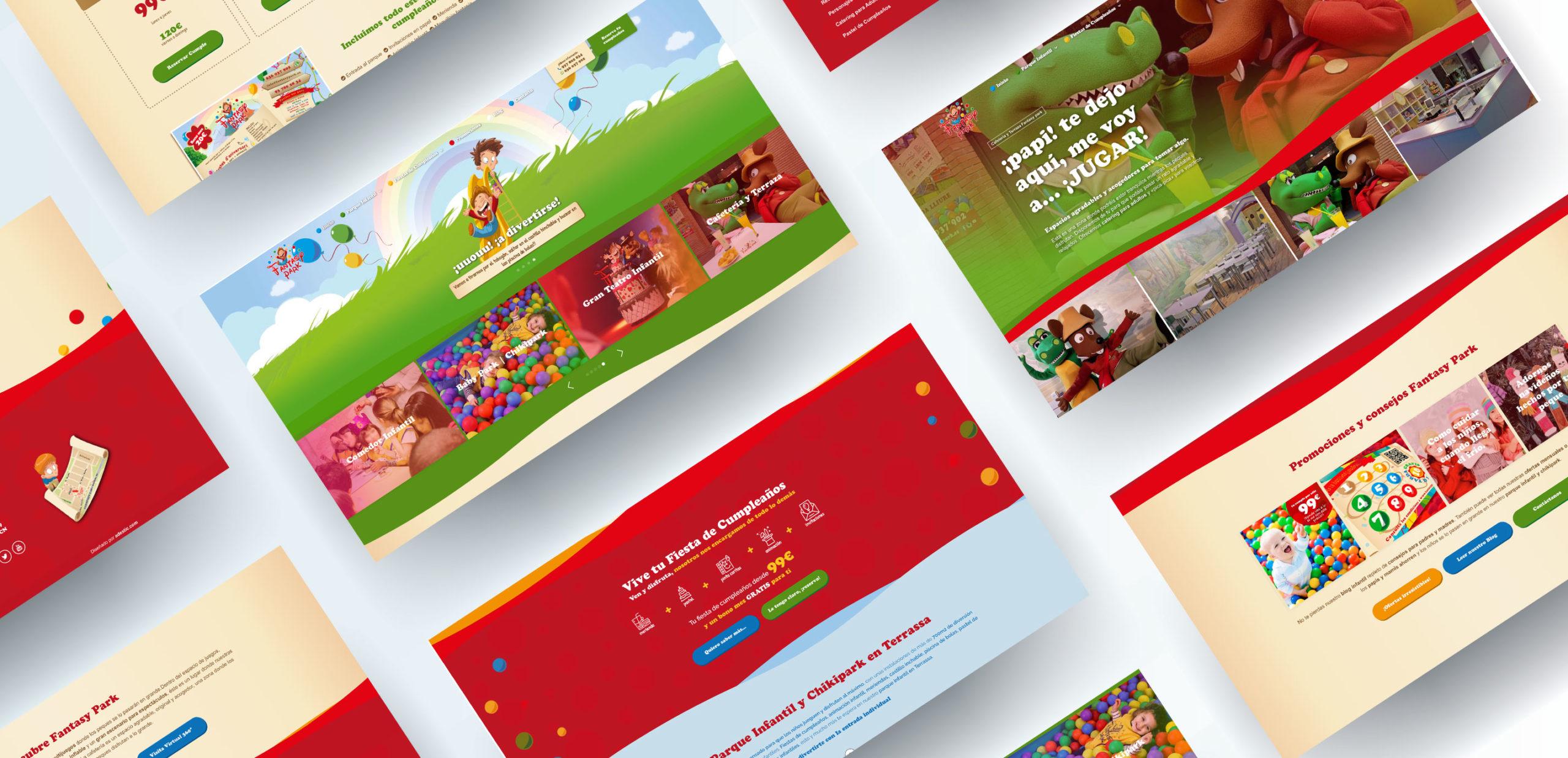 Diseño web parque intantil