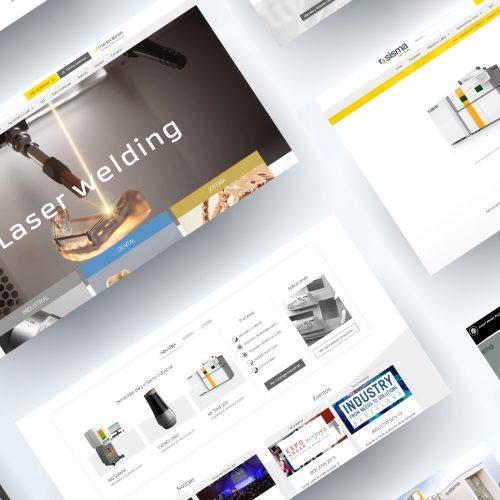 Diseño Catalogo Web Máquinas Láser